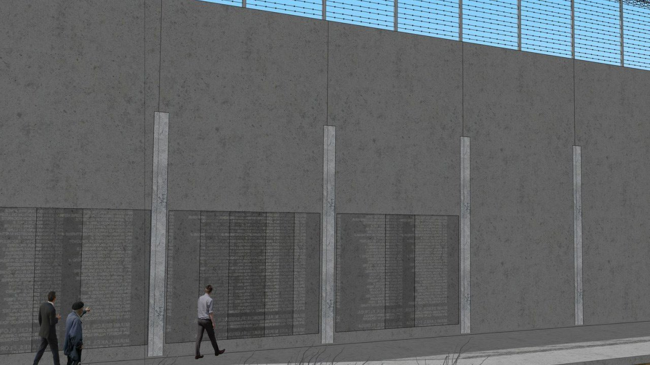 Reilly Construction and Croell's proposal for the U.S./Mexico border wall. Photo: Reilly Construction and Croell Inc.