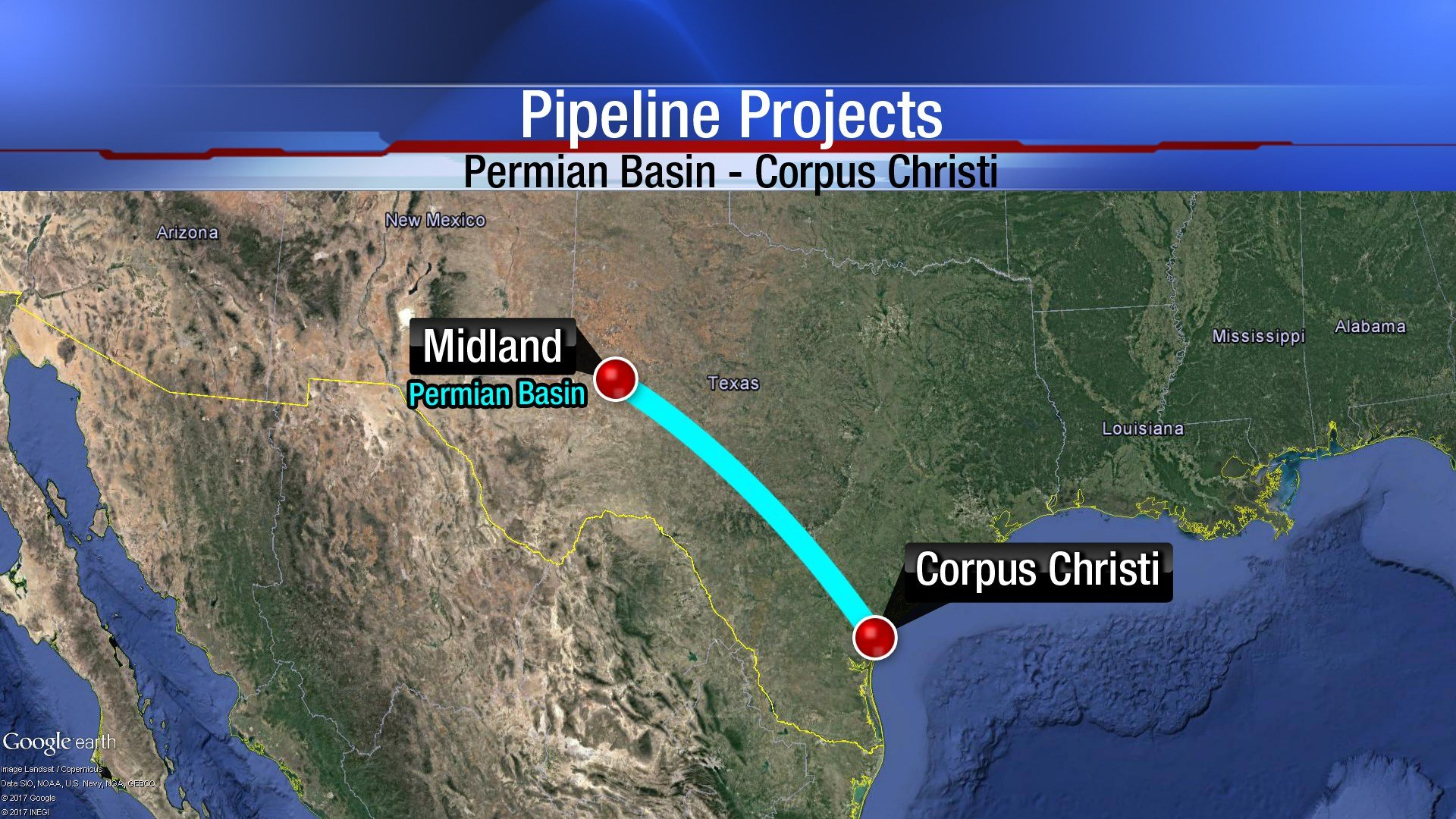 There are a dozen proposals for pipeline projects that would bring production from the Permian Basin to Corpus Christi's Eagle Ford Shale regions.