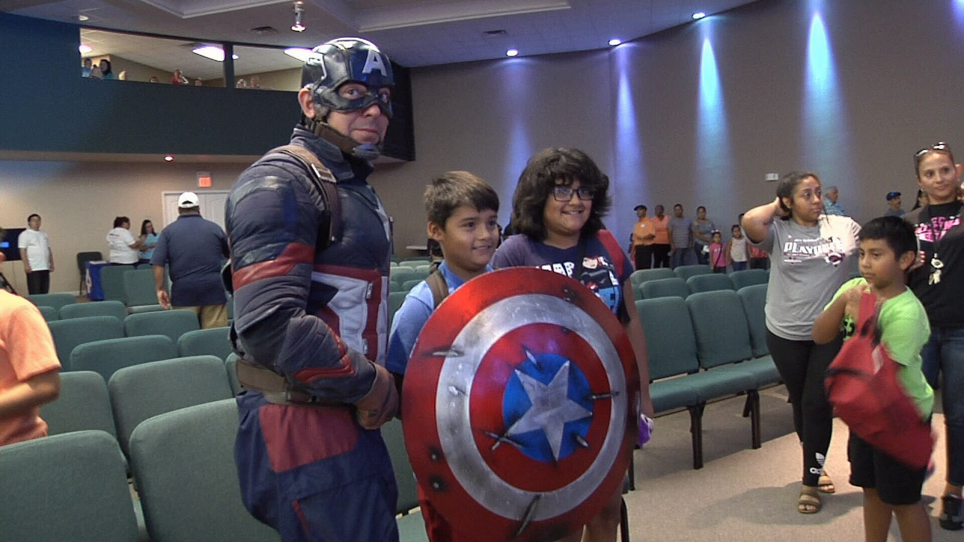 Even Captain America made an appearance at the event.
