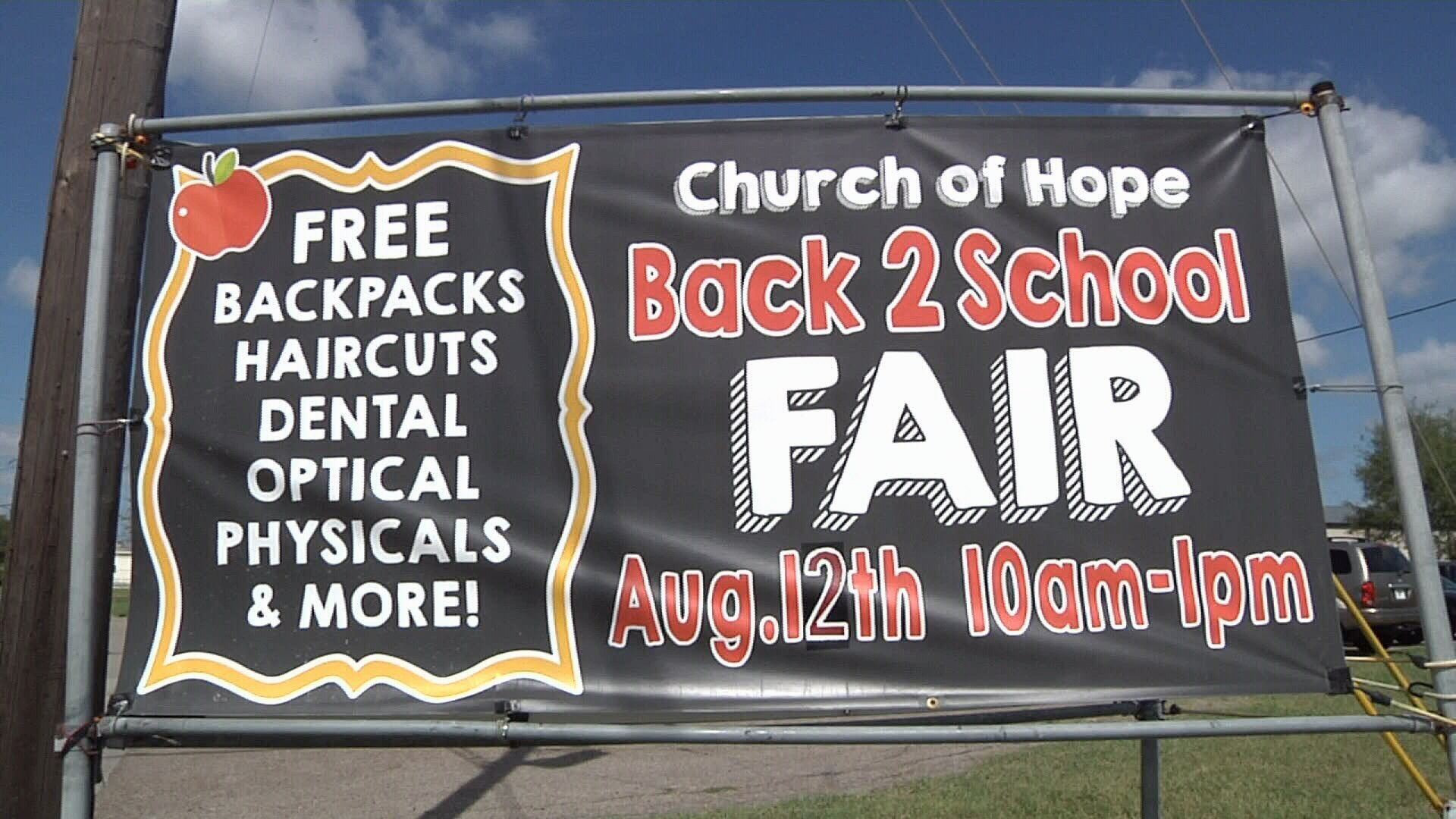 Church of Hope hosted the Back to School Fair, aiming to take some stress off local parents.