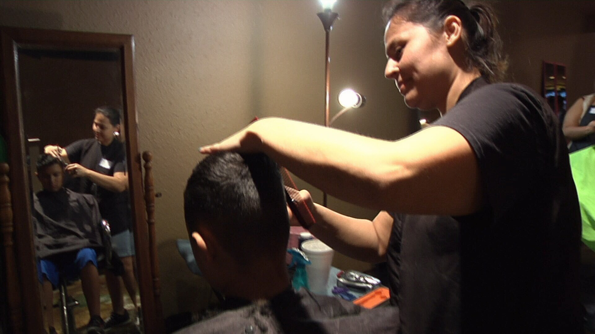 Students even had access to back to school essentials like haircuts, physicals, eye exams and more.