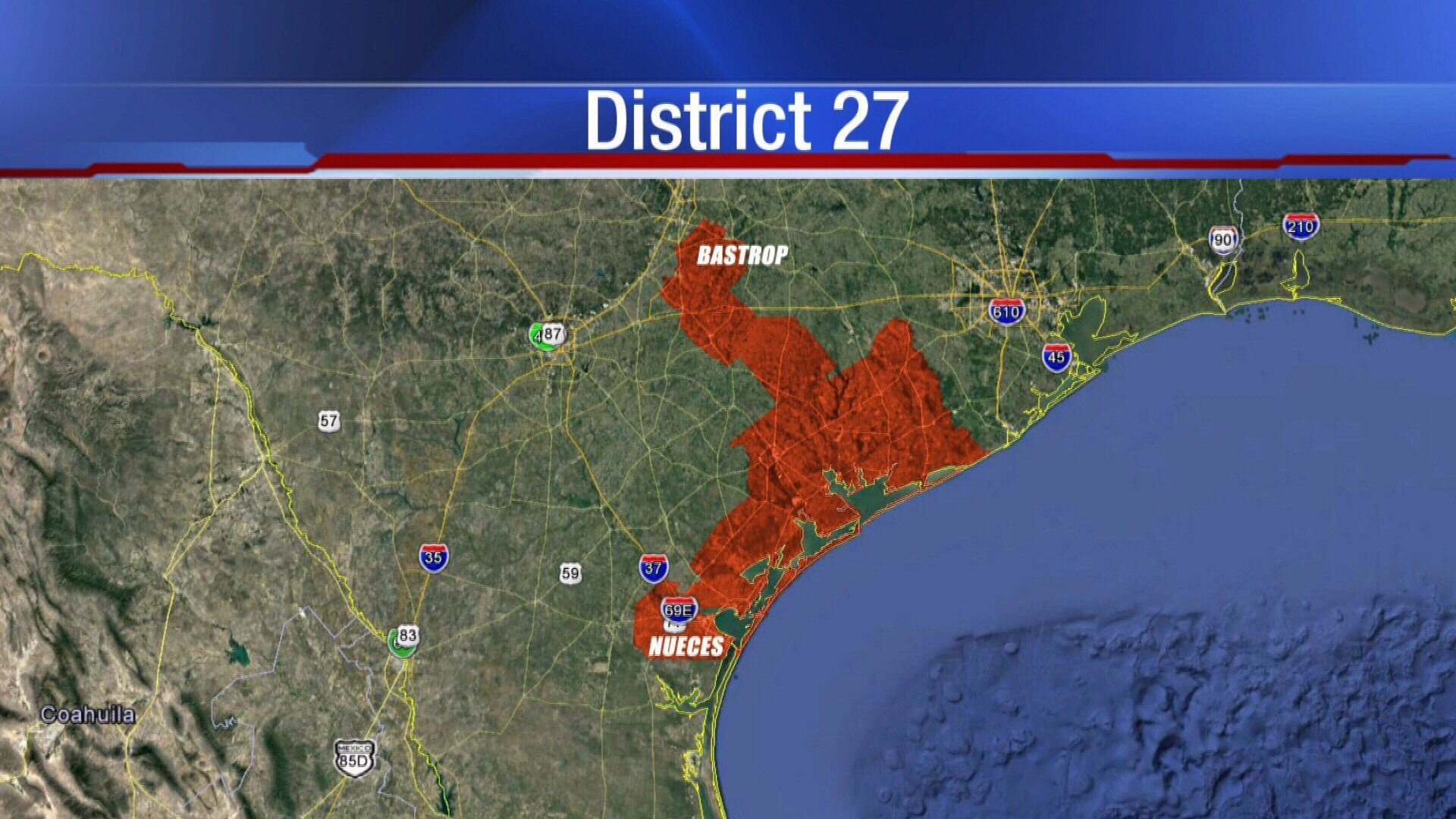 A look at the current Congressional District 27 boundaries.