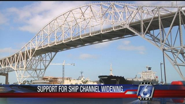 Deepening the Corpus Christi Ship Channel by just 10 feet is said to be enough to allow supertankers into the Port of Corpus Christi.