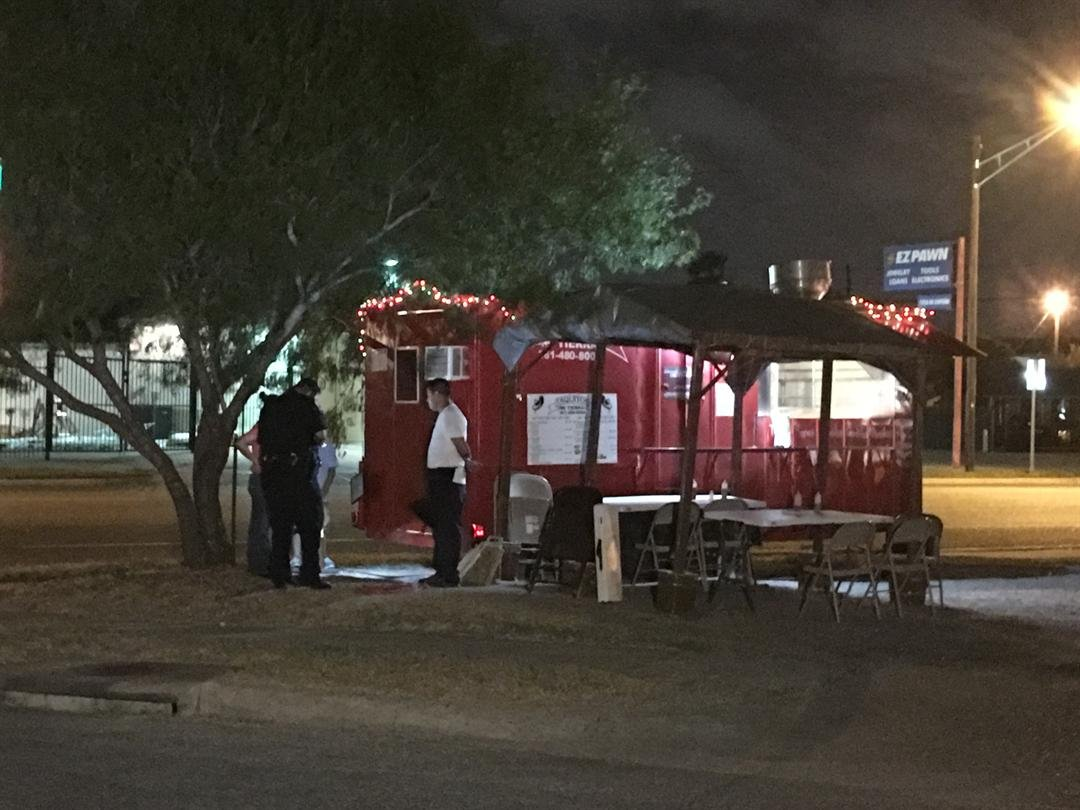 The 'Mi Terra' Food Truck on Shawnee and Baldwin was robbed by two men with a gun.