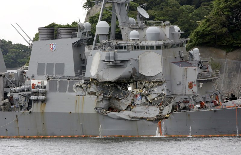 The destroyer USS Fitzgerald struck a commercial ship off the waters of Japan in June, killing seven U.S. Sailors.