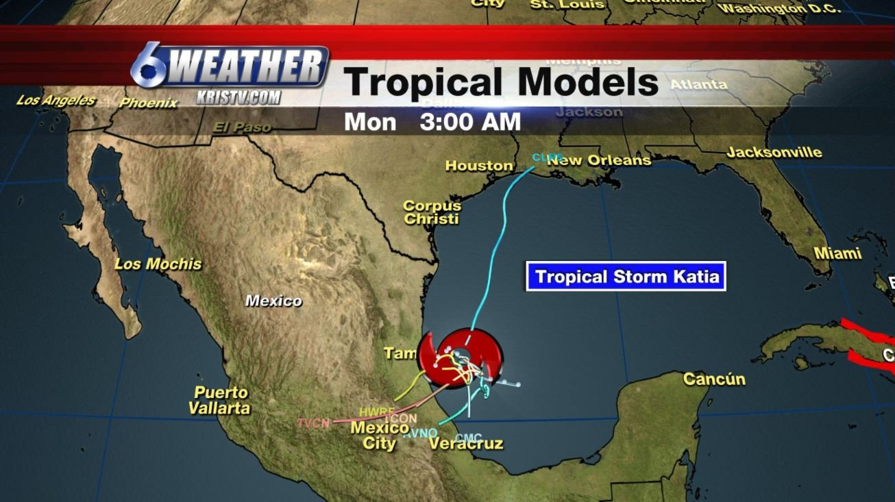 Katia dissipates over Mexico but heavy rainfall continues