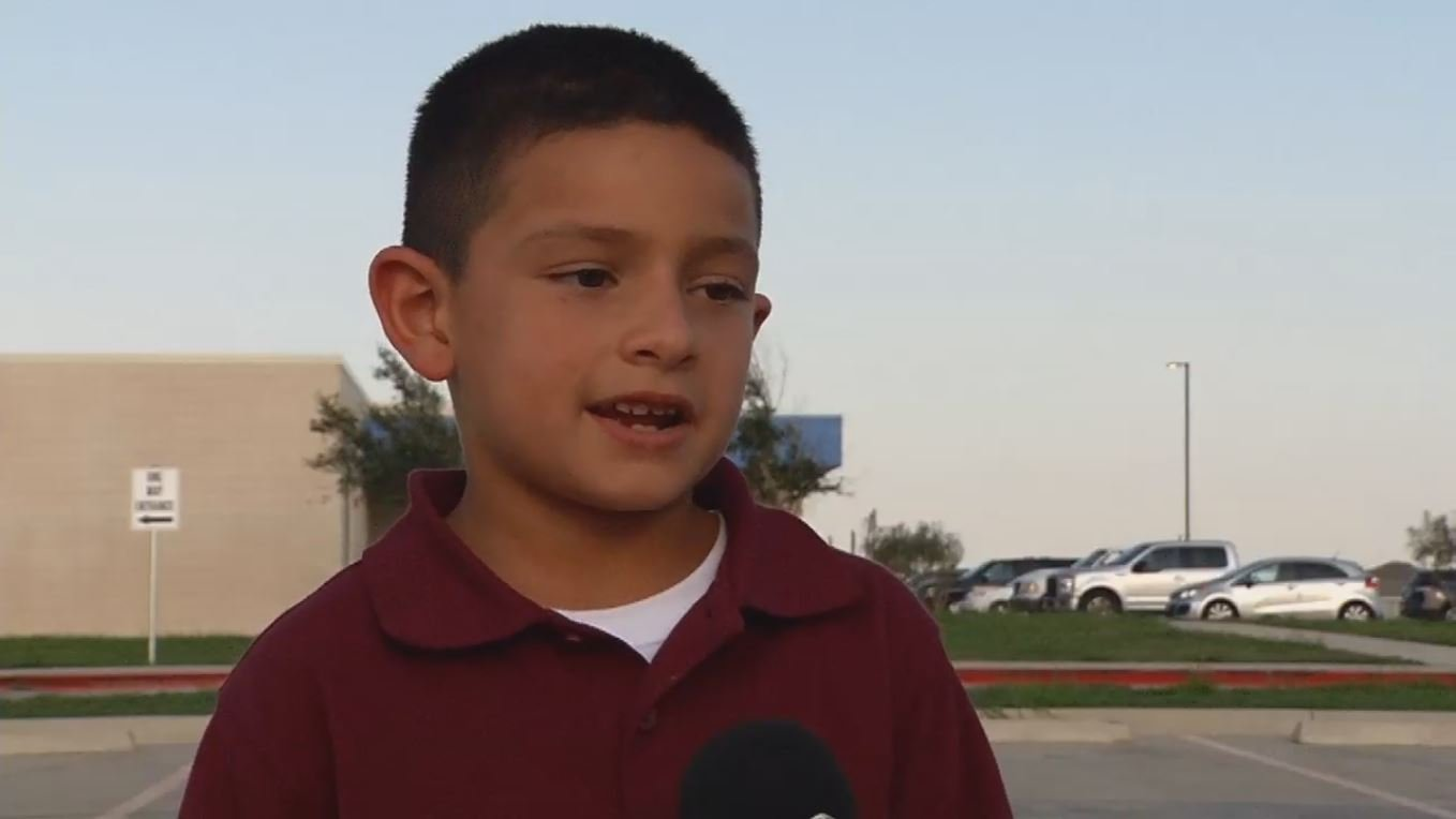 7-year-old Nathaniel Villarreal will donate almost $300 he raised to a Hurricane Harvey relief fund.