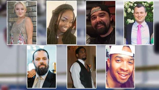 "Photo courtesy: NBC 5 DFW. Top left to right: Meredith Hight, Myah Bass, Caleb Edwards, James Dunlop. Bottom right to left: Anthony ""Tony"" Cross, Rion Morgan, Darryl Hawkins. Not pictured: Olivia Nicole Deffner"