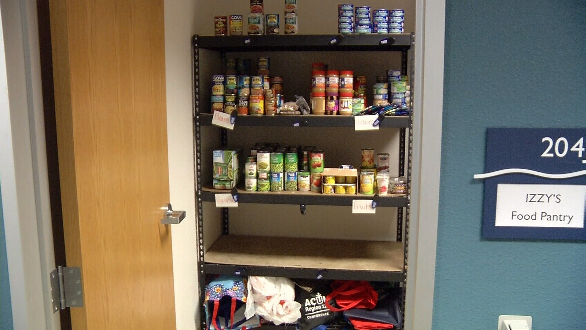 Izzy's Food Pantry at TAMU-CC.