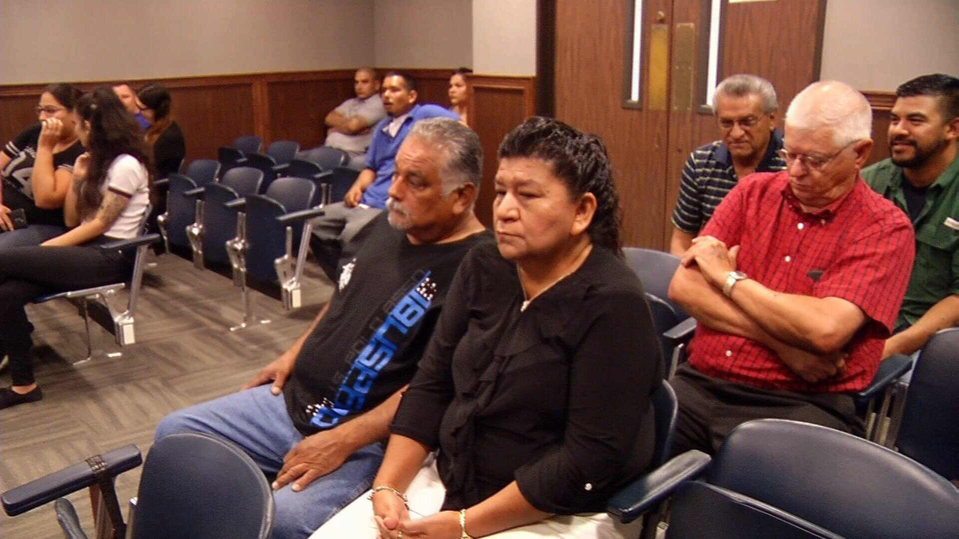 Charles Avalos Jr.'s family also attended Rodriguez's hearing.