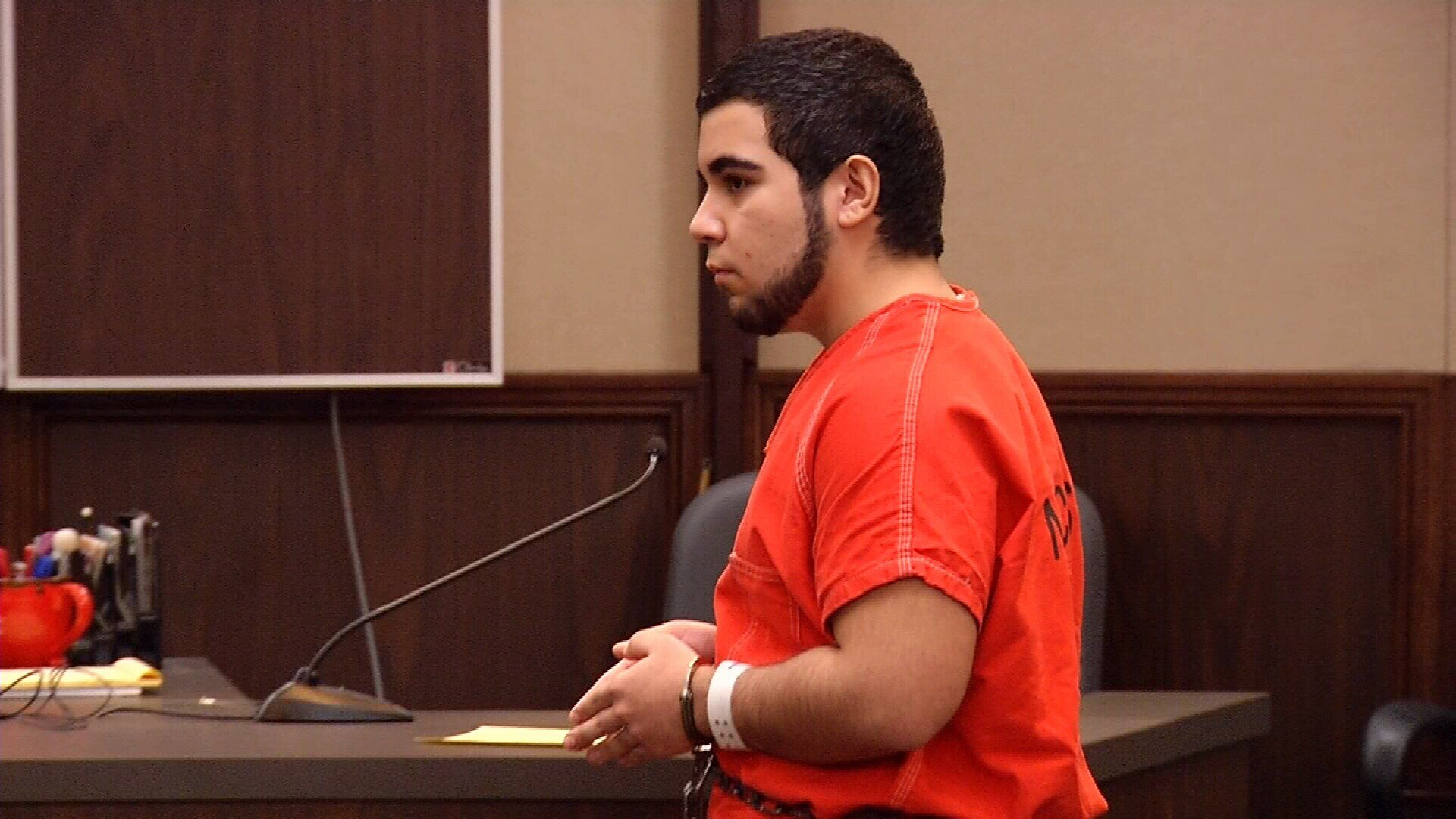 Juan Sanchez asked that his bond be denied so he could return to college.