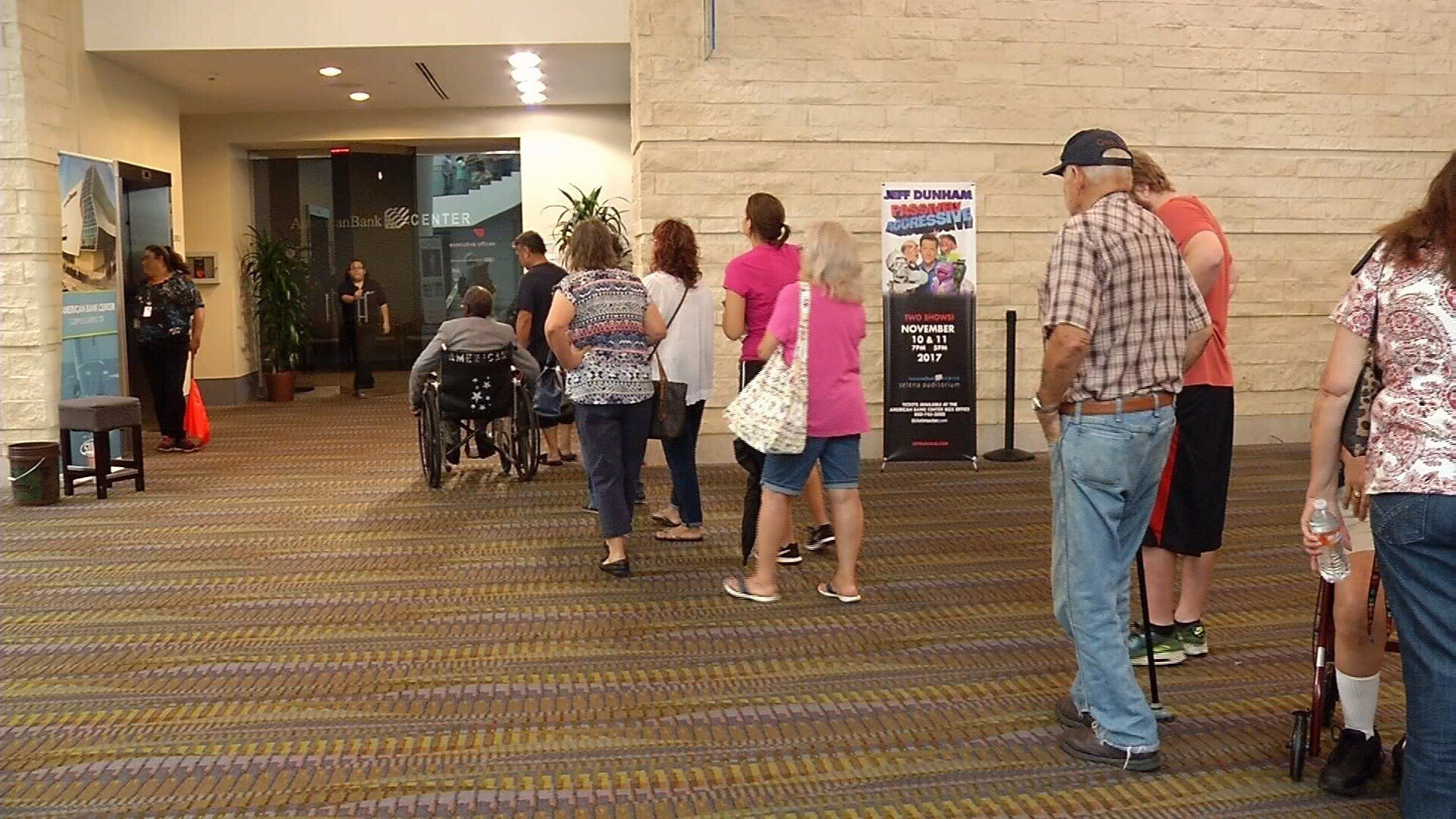 Residents line up to apply for D-SNAP benefits. (Sunday, September 25)