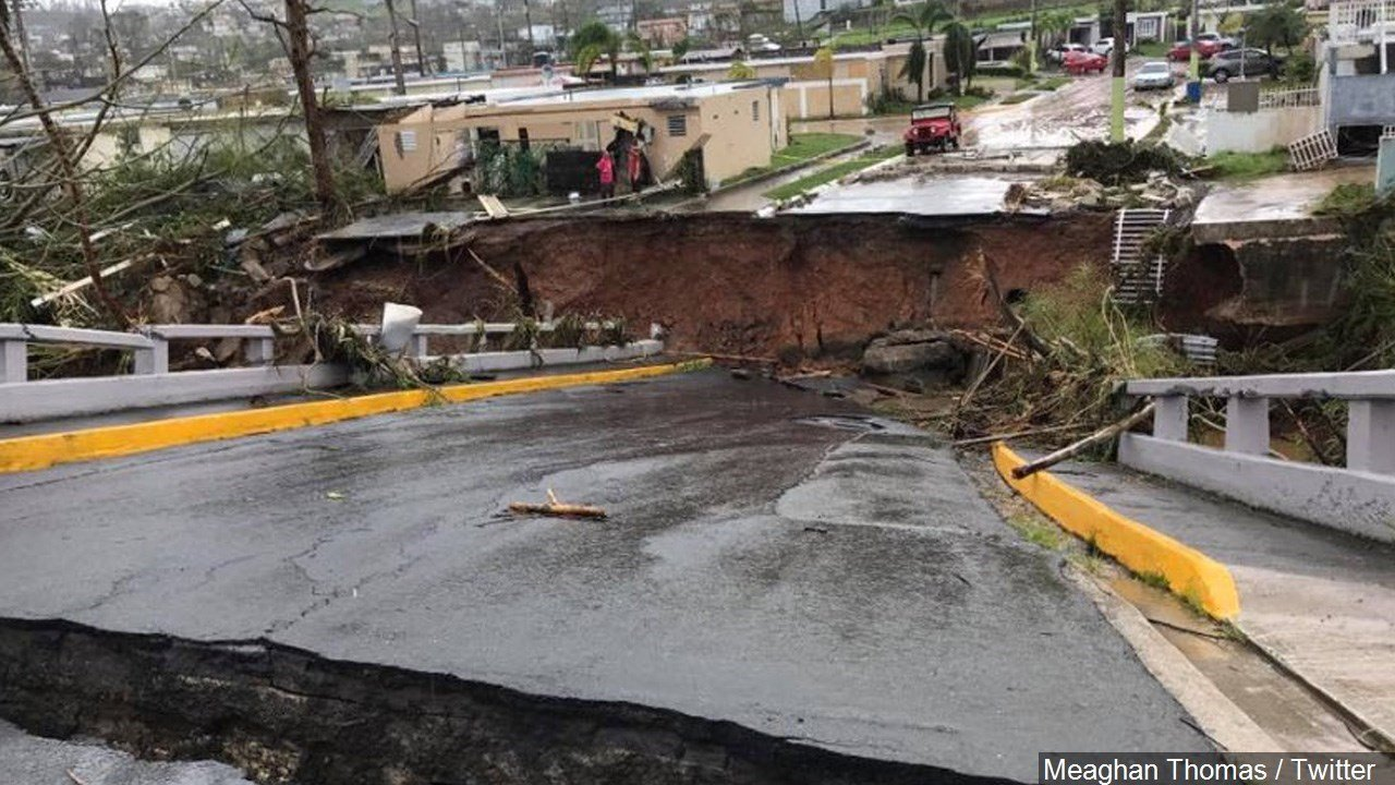 PHOTO: Damage from Hurricane Maria in Puerto Rico, Photo Date: 9/20/17