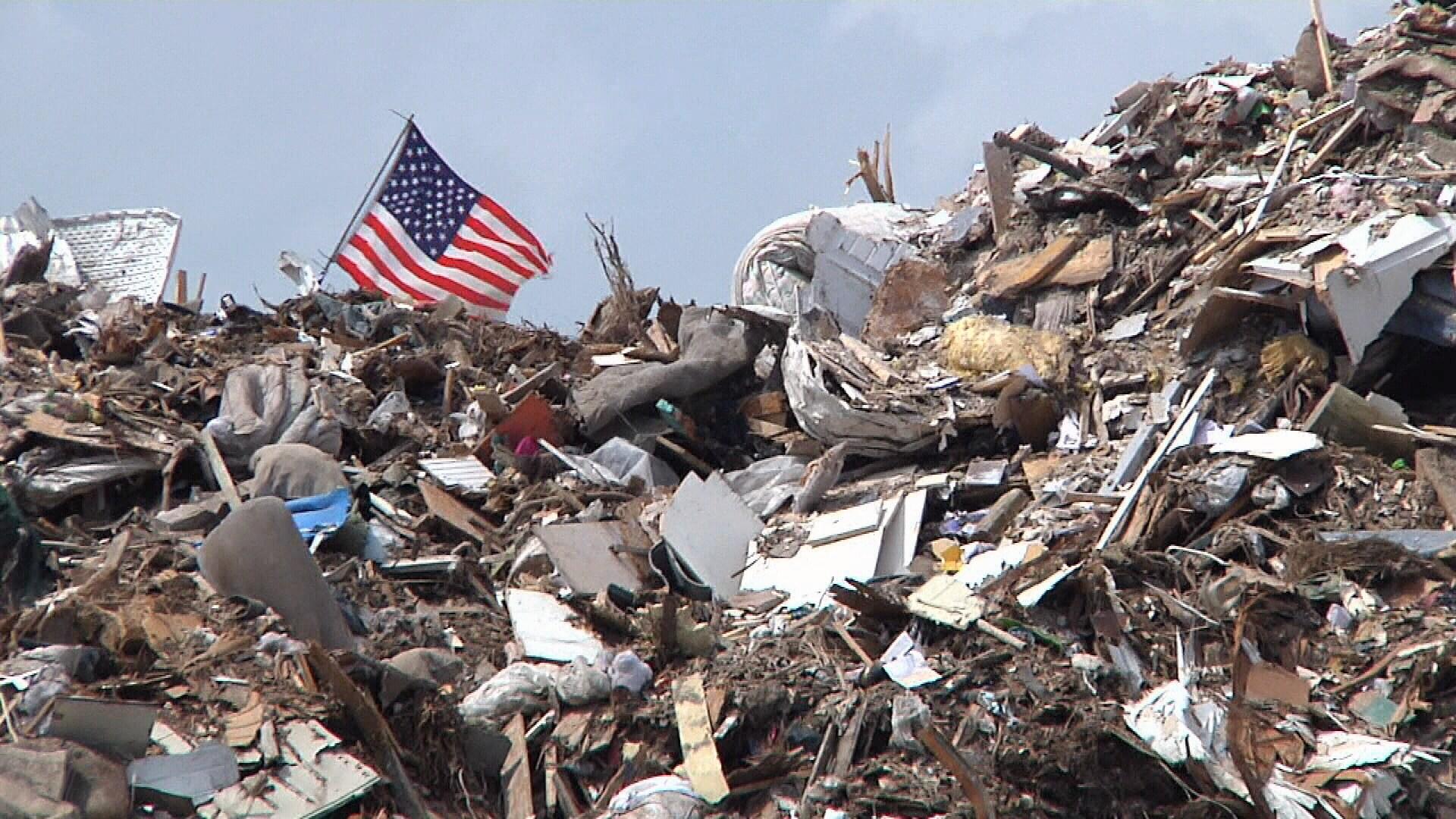 Hurricane Harvey left behind enough debris in Port Aransas to fill the U.S. Capitol rotunda ten times.