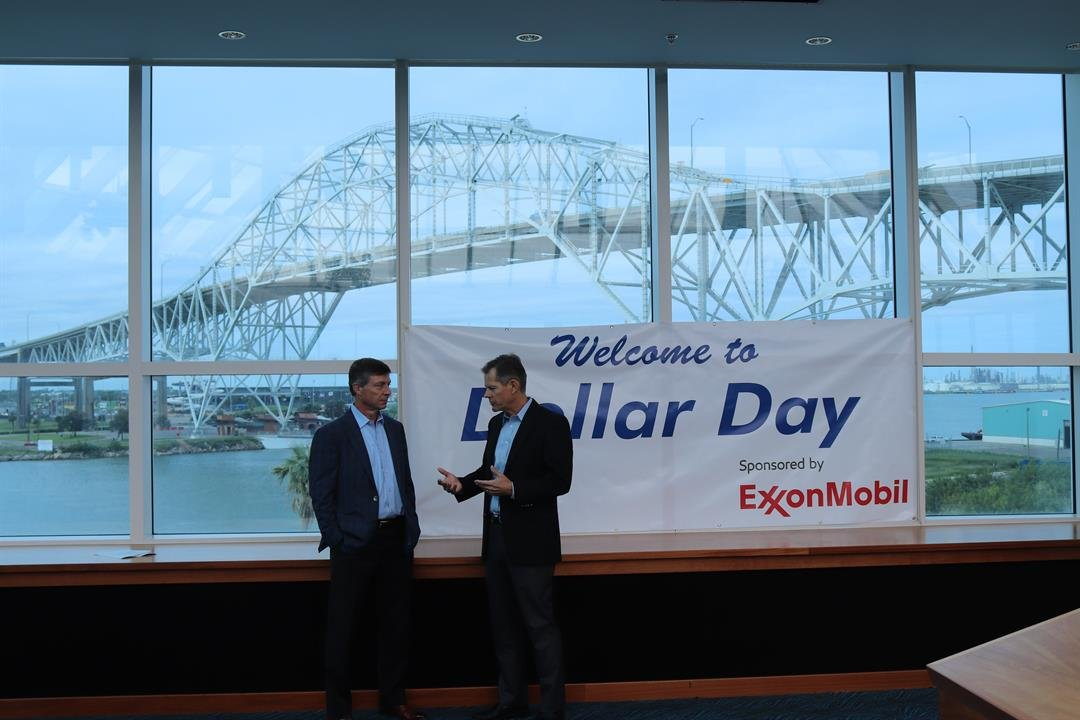 ExxonMobil announced the upcoming Dollar Day during a news conference on Wednesday morning.
