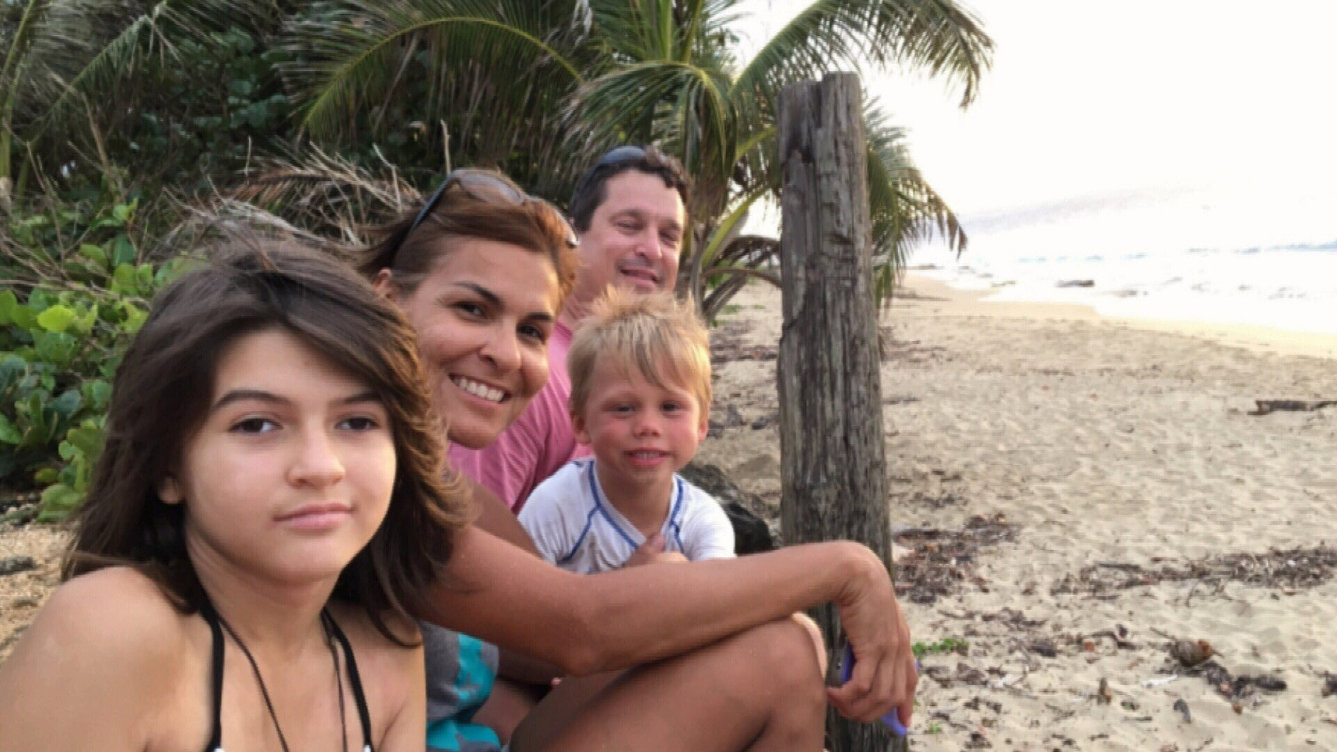 Customs pilot Herman Cestero had not seen his family since they evacuated to the United States the day after Hurricane Maria struck Puerto Rico.