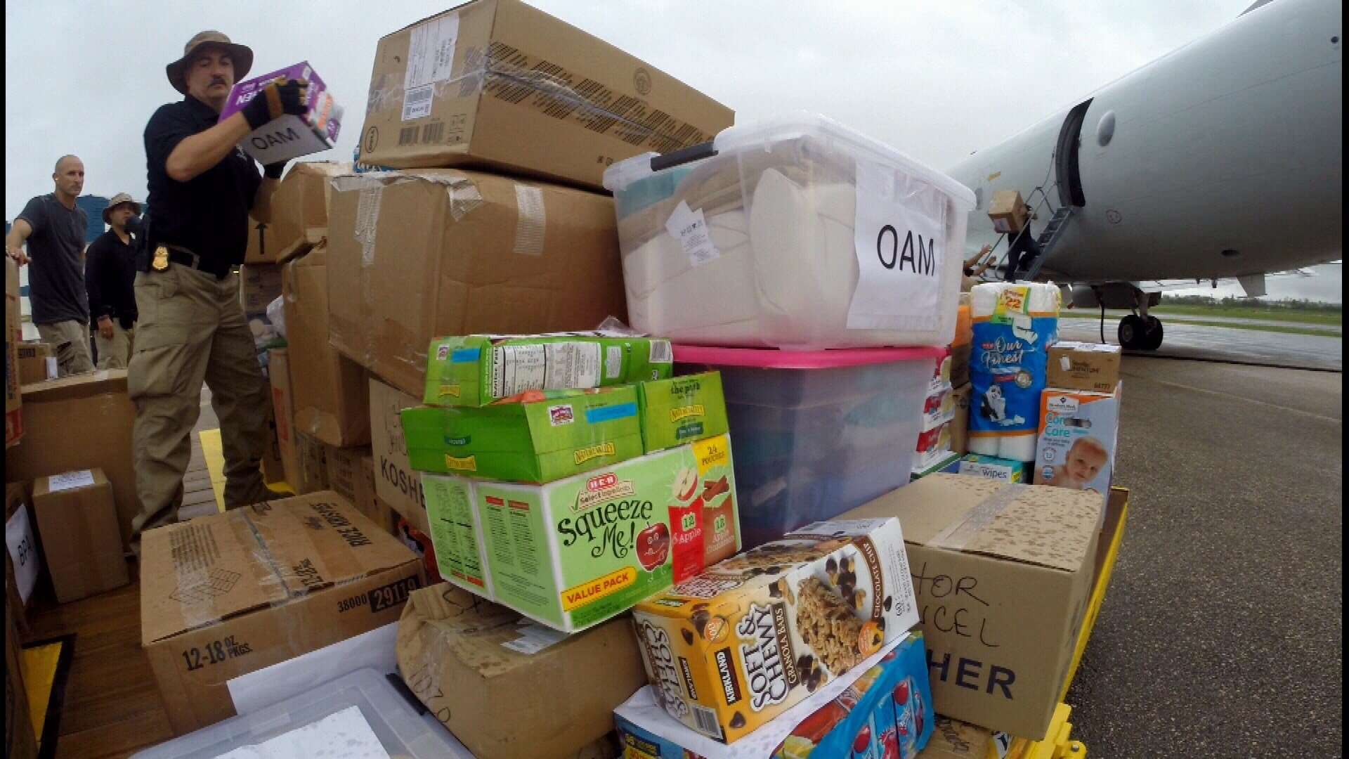 The supplies will be distributed to storm victims in Northwest Puerto Rico and also agents on the ground.
