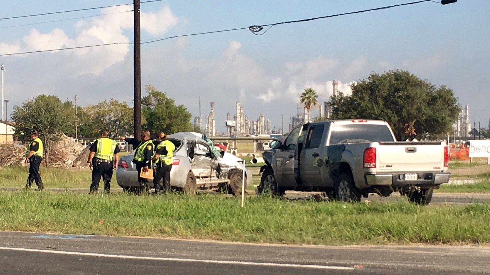 Police say a woman was killed following a T-Bone crash Saturday morning.