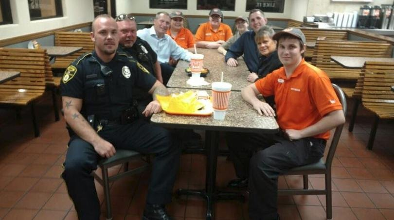 """KXII reports Denison Police Chief Jay Burch says Whataburger has """"made things right"""" after an incident where his officers were denied service. (Photo courtesy: KXII)"""