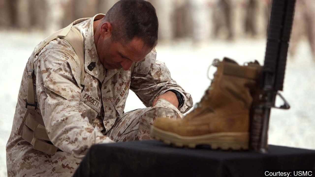 Battle cross memorial ceremony at Forward Operating Base Delaram I Afghanistan July 7 2010.