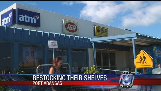 IGA, the only grocery store in Port Aransas, has reopened over a month after Hurricane Harvey.