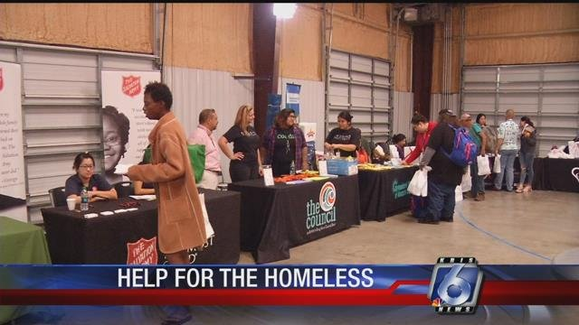 Over 25 stations provided various info and resources to the city's homeless population.