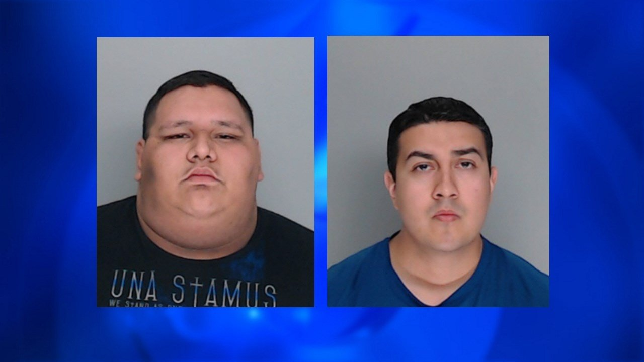 Raul Flores (left) and Anthony Munoz (right) are accused of assaulting a Nueces County Jail inmate while on duty. Both have since resigned.