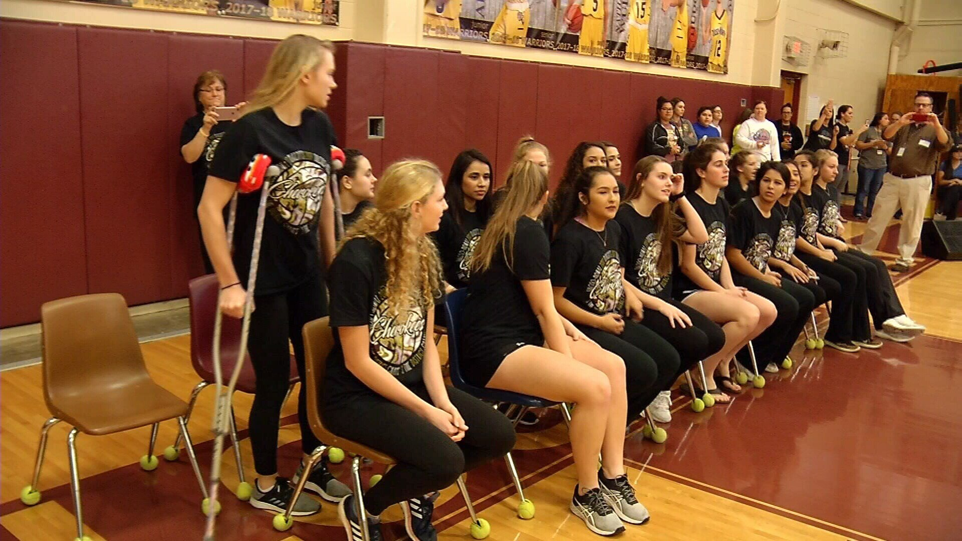 Tuloso-Midway High School held a pep rally for the school's volleyball team.