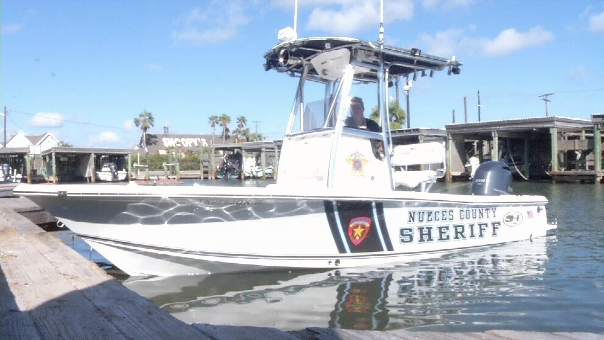 A new patrol boat owned by the Nueces County Sheriff's Department is patrolling waterways and canals on Padre Island.