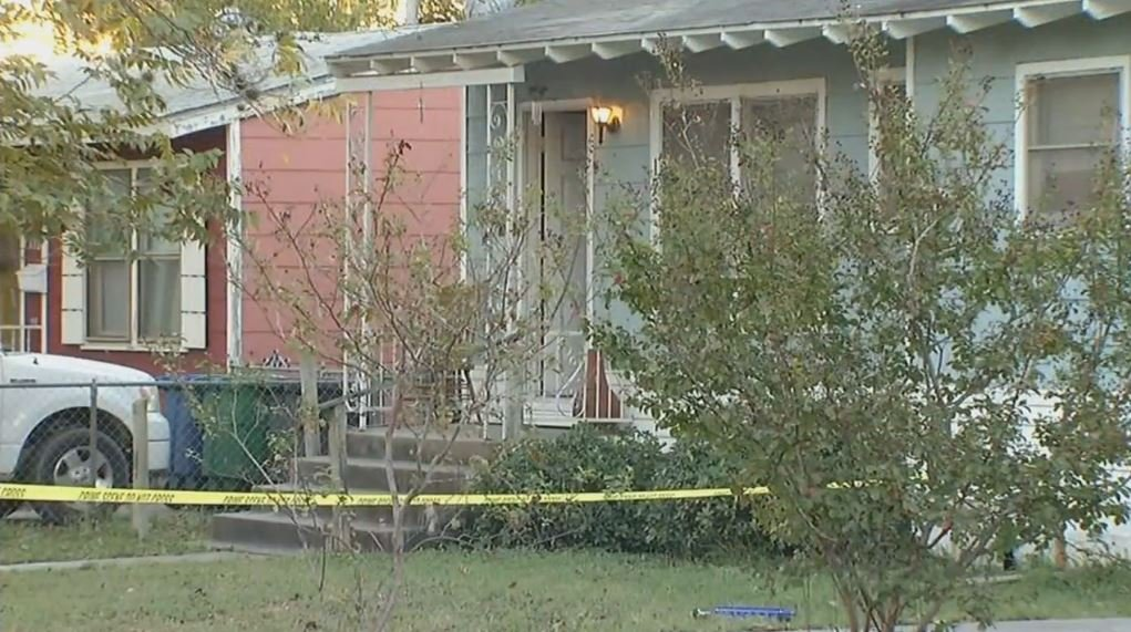 Photo: Crime scene tape surrounds a home where a ten-year-old girl was shot and killed. (Courtesy: WOAI)