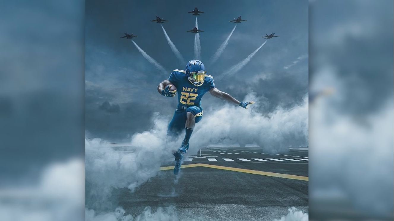 Navy unveils Blue Angels inspired uniforms.