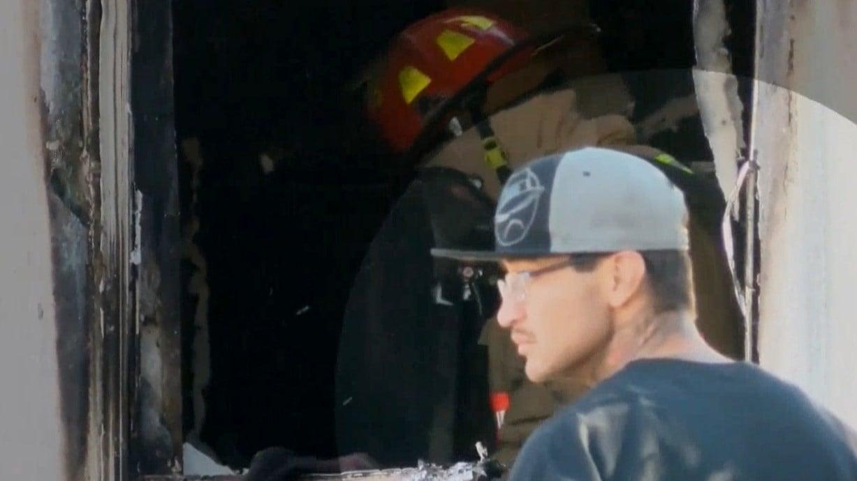 East Vegas apartment fire sends 2 children to hospital