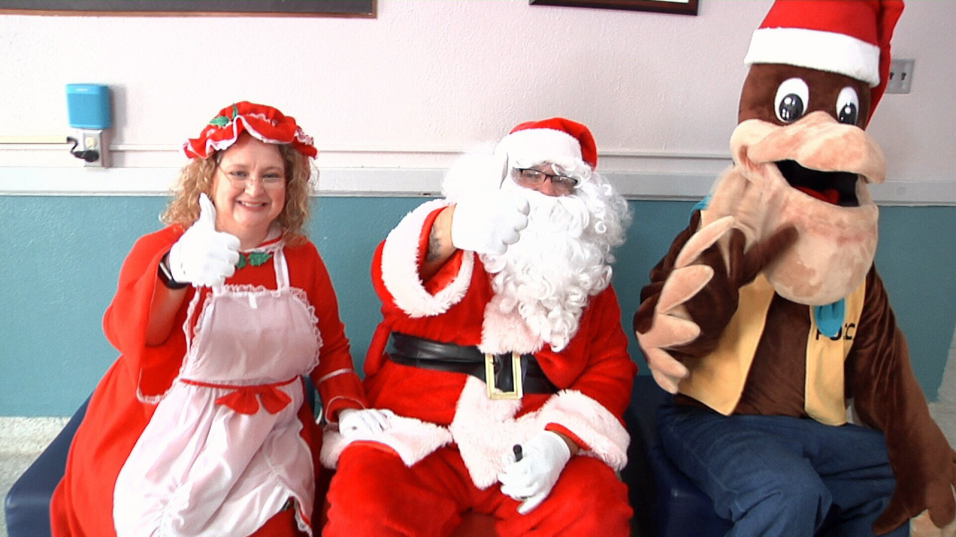 Mrs. Claus, Santa Claus and Pocca the Pelican attended the celebration.