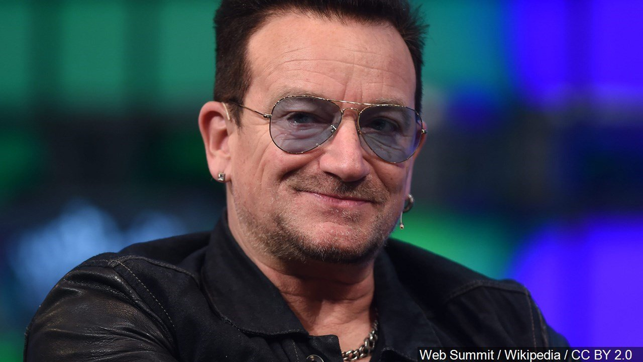 PHOTO: Bono is an Irish singer-songwriter, musician, venture capitalist, businessman, and philanthropist. He is best known as the lead vocalist of rock band U2. Birthday 5/10 1960, Photo Date: 11/6/14