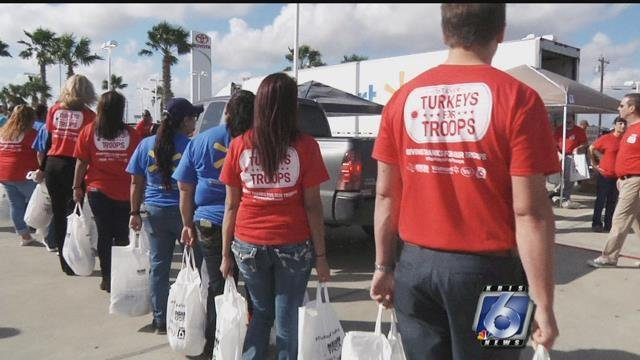 Mike Shaw Toyota and Walmart teamed up over the Thanksgiving holiday for Turkeys For Troops giveaway.