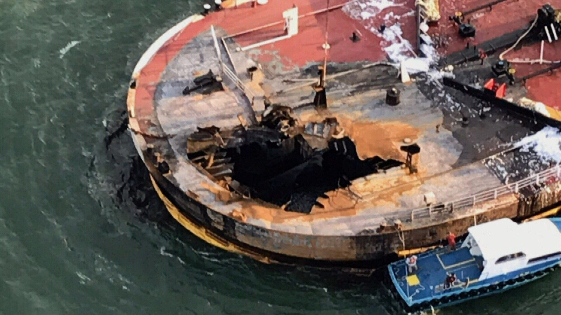 The cause of the explosion remains under investigation by the Coast Guard and the National Transportation Safety Board.
