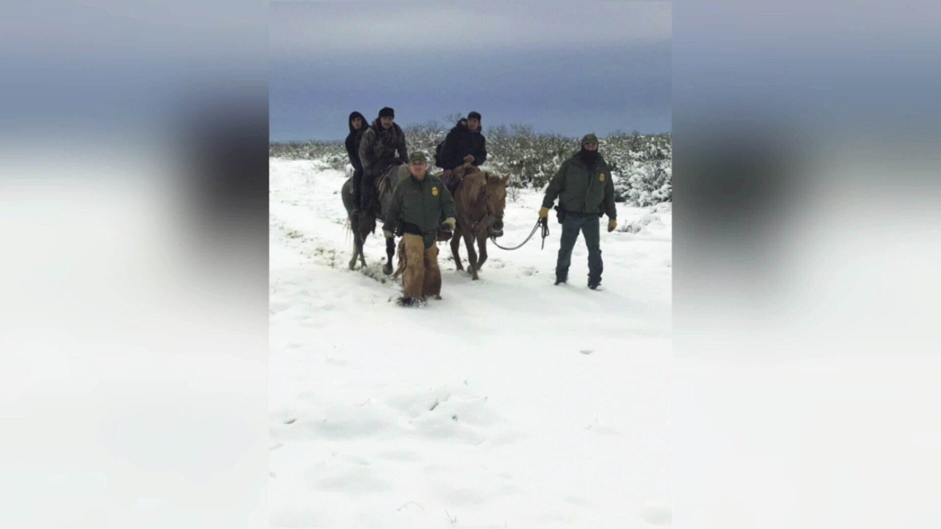 Border Patrol agents rescued dozens of illegal immigrants showing signs of hypothermia during the recent snow fall.