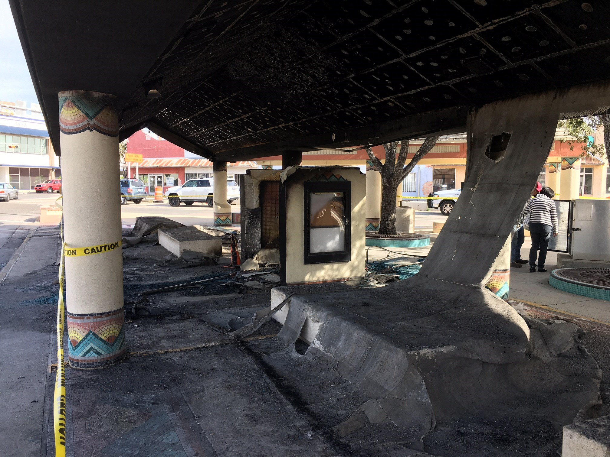 A fire caused heavy damage to the 6 Points RTA Transfer Station.