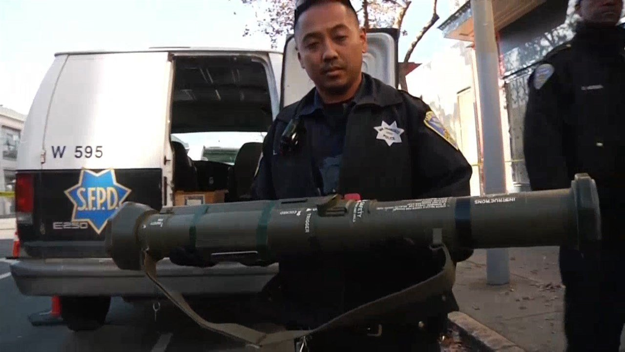 Bazooka turned in during gun buyback