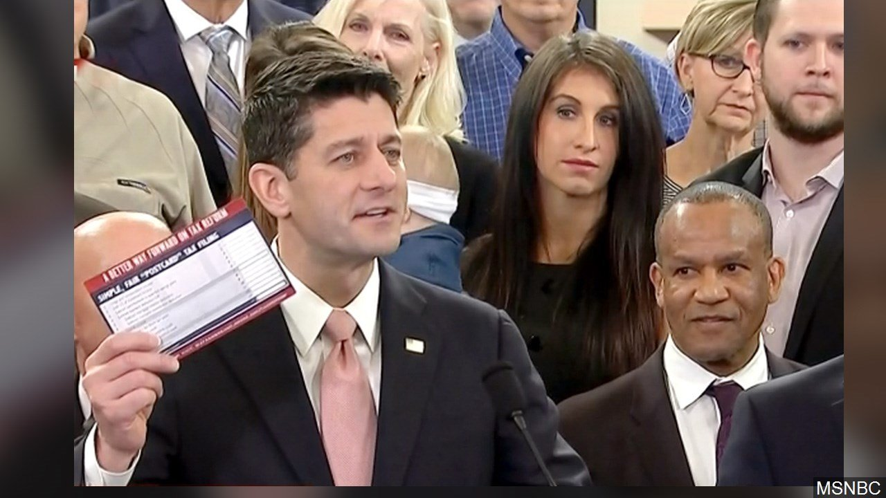 PHOTO: Paul Ryan, Speaker of the House of Representatives releasing Republican Tax Plan, Photo Date: 11/2/2017