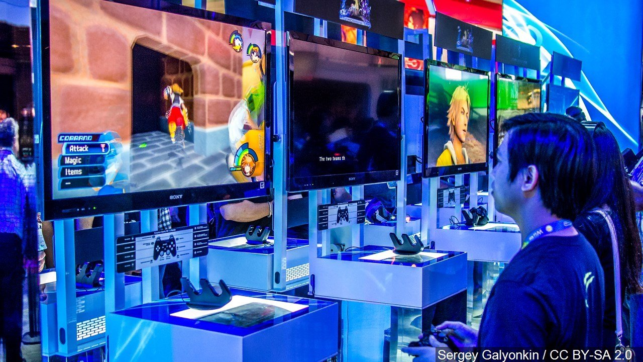 PHOTO: Gaming stations at the E3 Expo