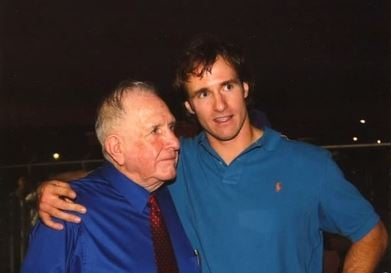 Coach Ray Akins and grandson Drew Brees