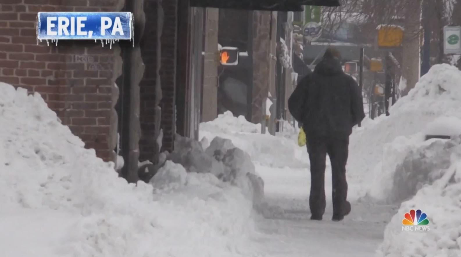 Snow in Erie, PA./NBC News