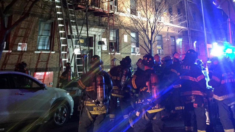 New York City fire crews responded to an apartment fire that killed 12. Photo: FDNY / NBC News New York