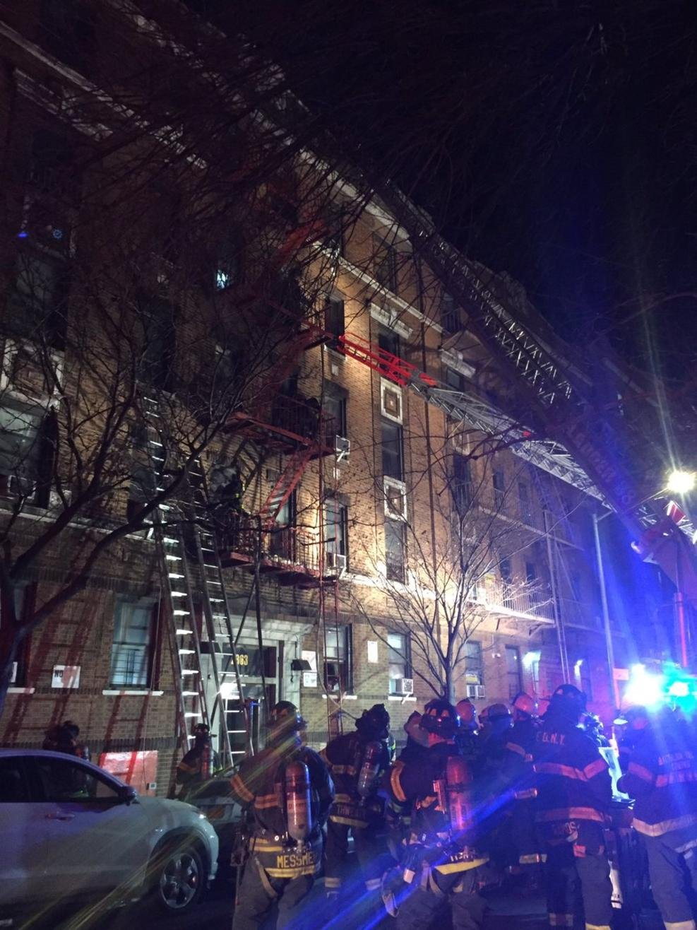 An apartment fire left at least 12 dead in New York City. Photo: FDNY / NBC News New York