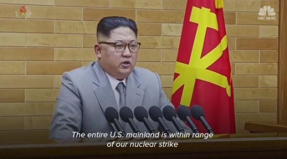 Kim Jong Un makes New Year address
