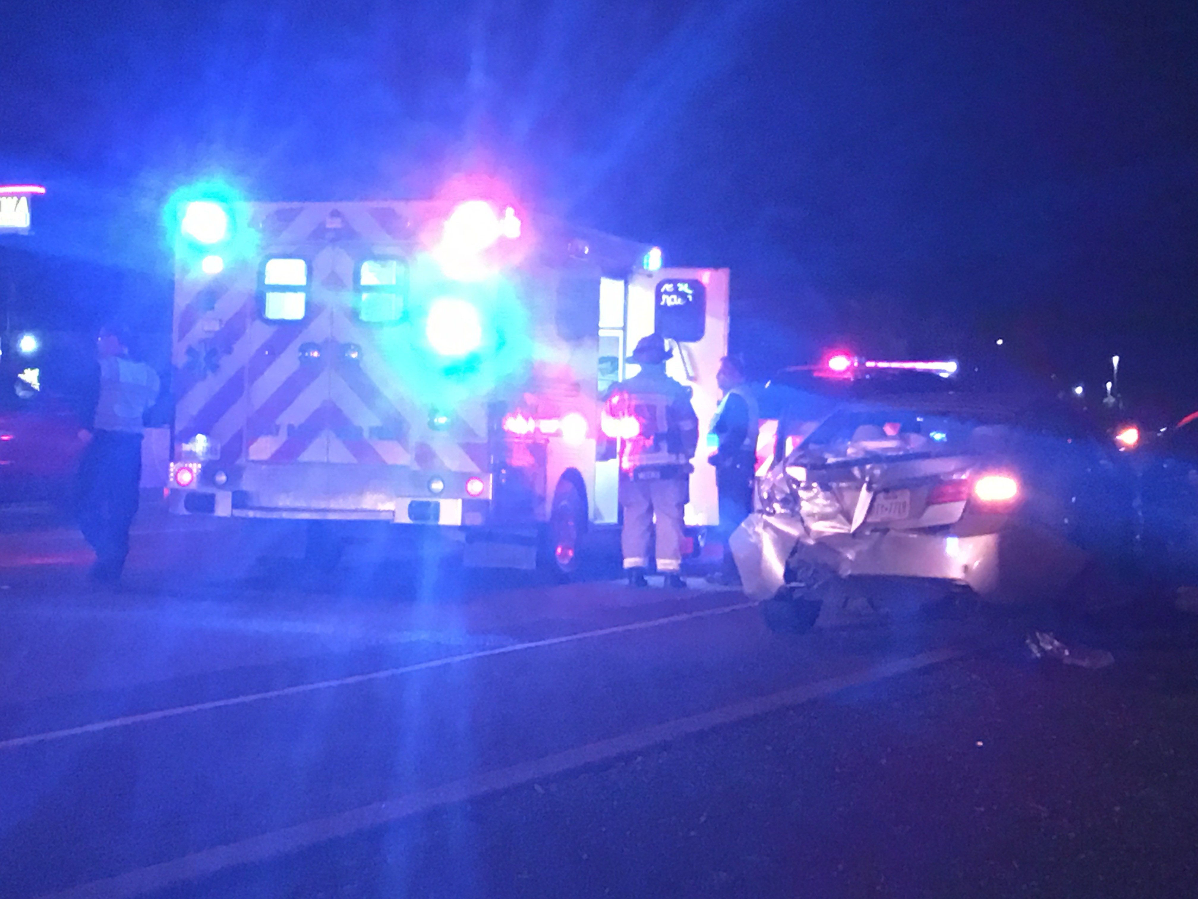 CCPD said four individuals were taken to a hospital with non-life-threatening injuries.