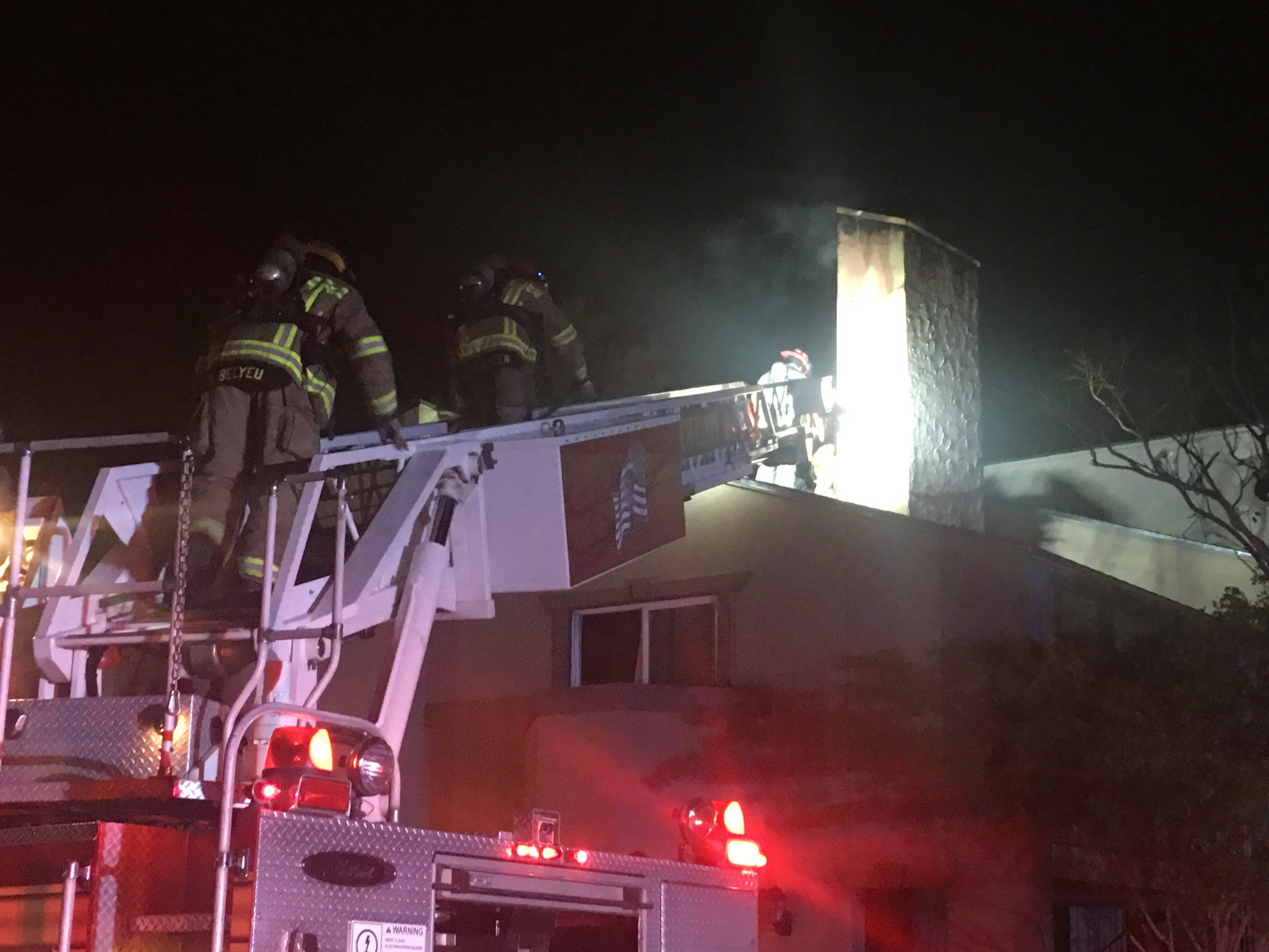 CCFD used ladders and other resources to overcome obstacles posed by the building's design and extinguish the fire.
