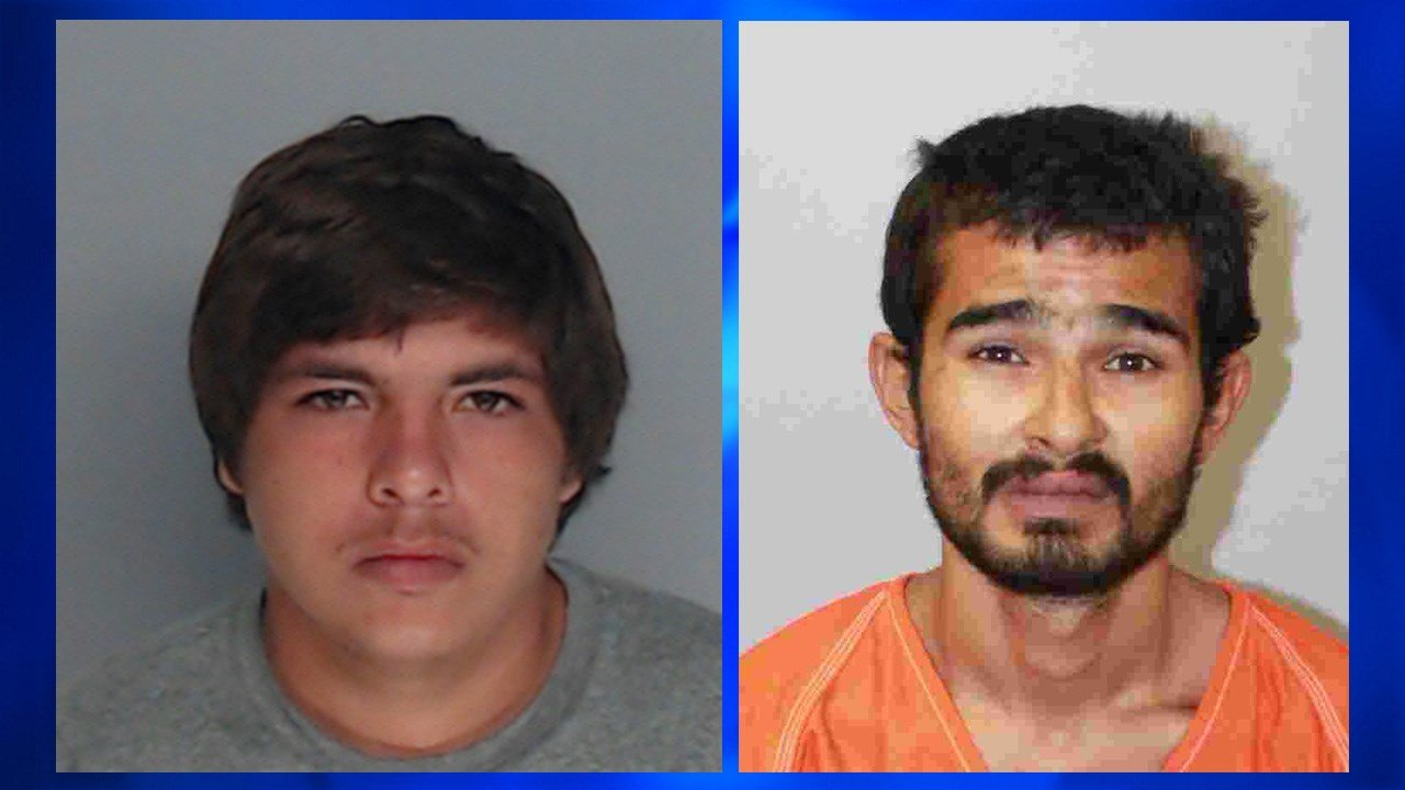 Isaiah Munguia (left) and Gerardo Ybarra (right) were identified as suspects in the theft of an estimated $2,000 in clothes from the Outlets at Corpus Christi Bay. Photo: Robstown Police Department