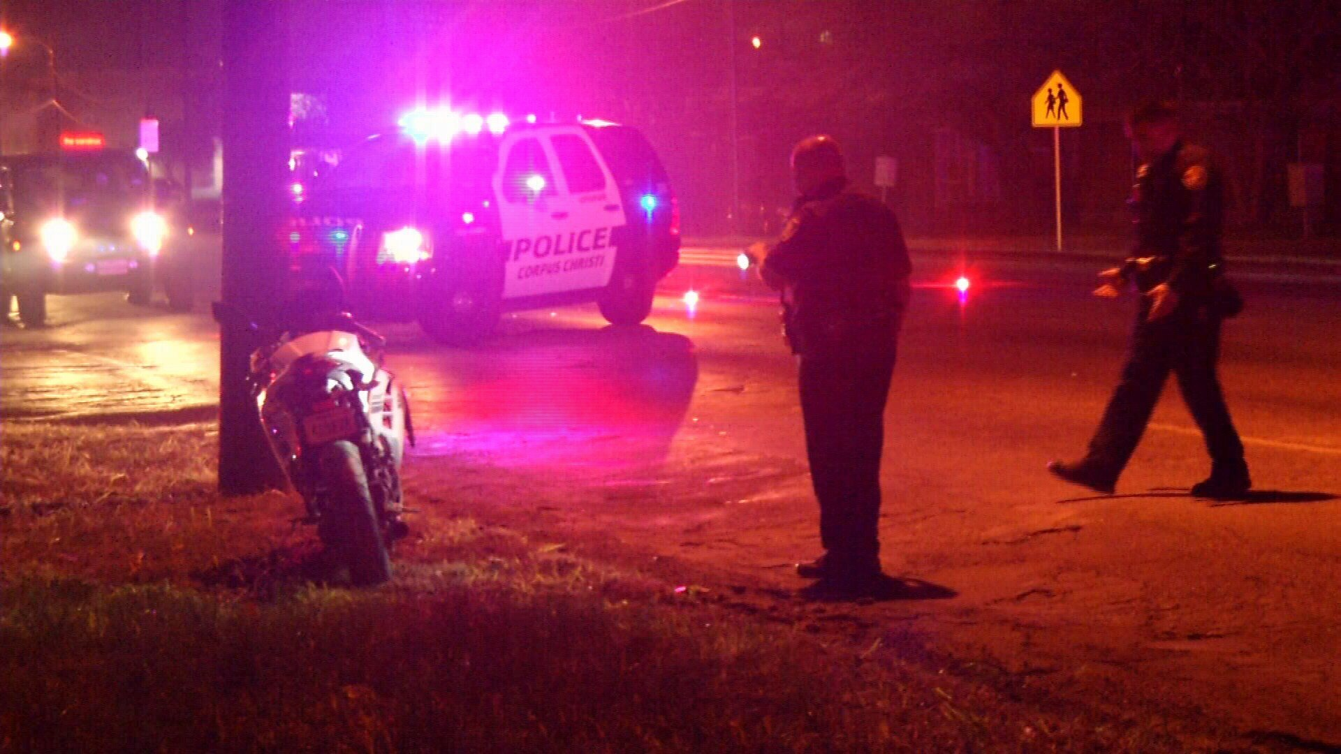 Police said a motorcyclist was killed after being struck by another vehicle while attempting a turn.